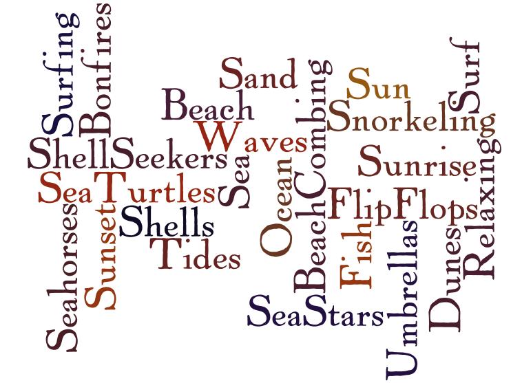 Words To Describe A Sunny Beach