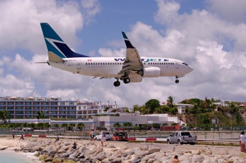 WestJet 737 aircraft landing. Courtesy Chris Kjelgaard, Airlines and Destinations